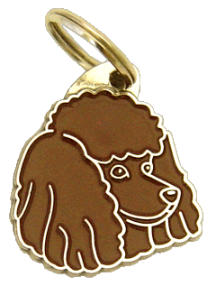POODLE BROWN - pet ID tag, dog ID tags, pet tags, personalized pet tags MjavHov - engraved pet tags online
